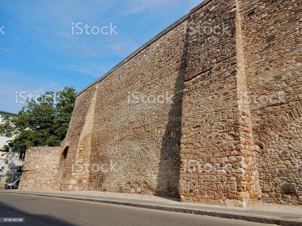 Benevento - Cinta muraria restaurata stock photo