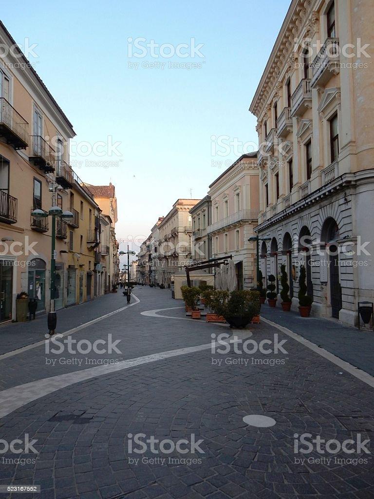 Benevento - Corso Garibaldi stock photo