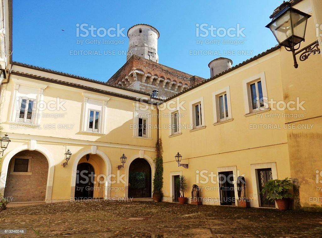 Benevento - Corte della Rocca dei Rettori stock photo