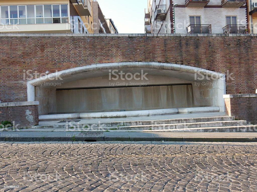 Benevento - Fontana razionalista stock photo