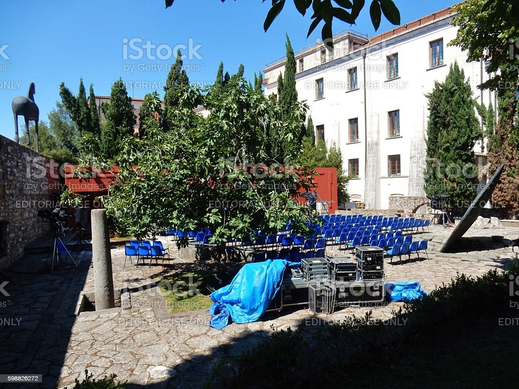 Benevento - Hortus Conclusus in allestimento stock photo