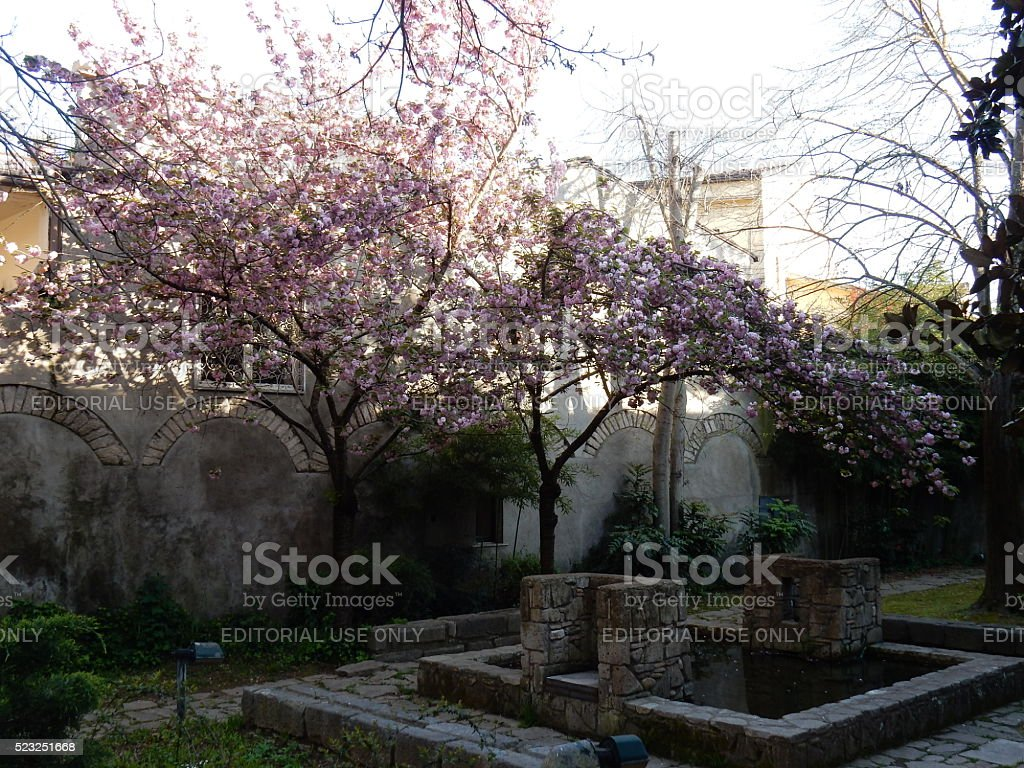 Benevento - Hortus Conclusus stock photo