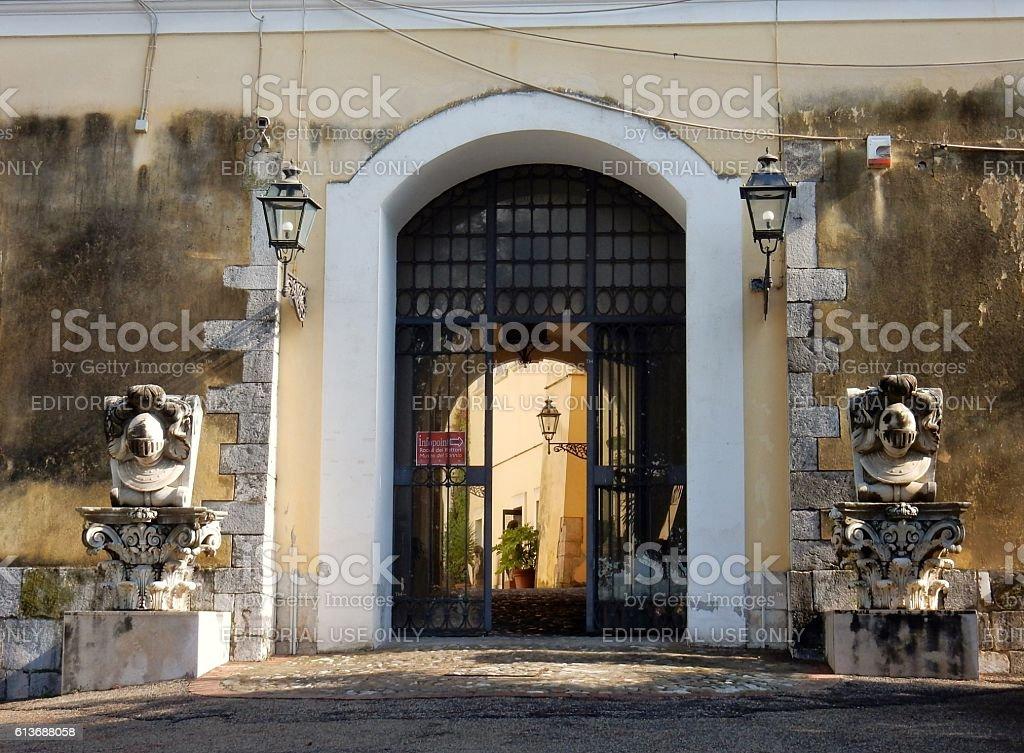 Benevento - Ingresso alla Rocca dei Rettori stock photo