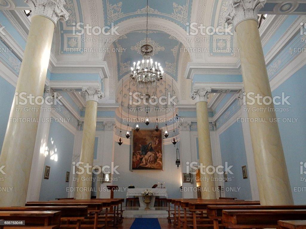Benevento - Interno della chiesa del cimitero stock photo