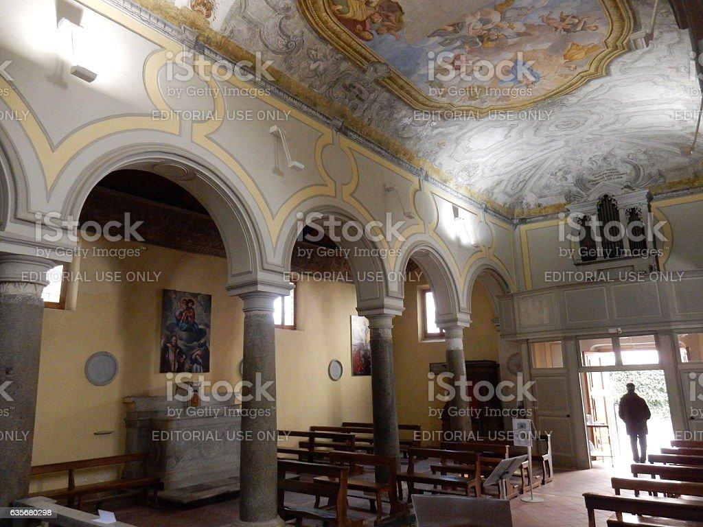 Benevento - Interno della chiesa del SS. Salvatore stock photo