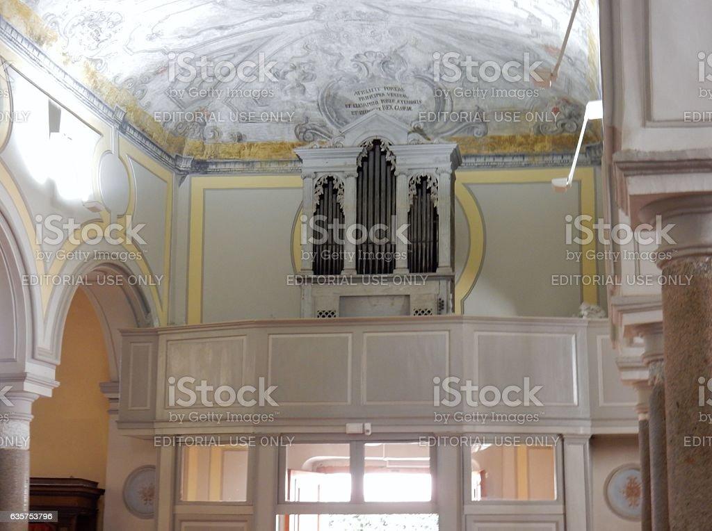 Benevento - Organo della chiesa del SS. Salvatore stock photo