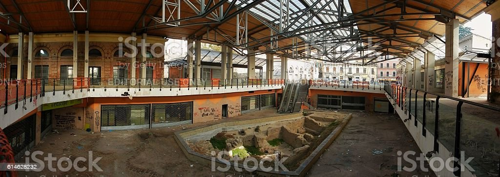 Benevento - Panoramica del Mercato coperto stock photo