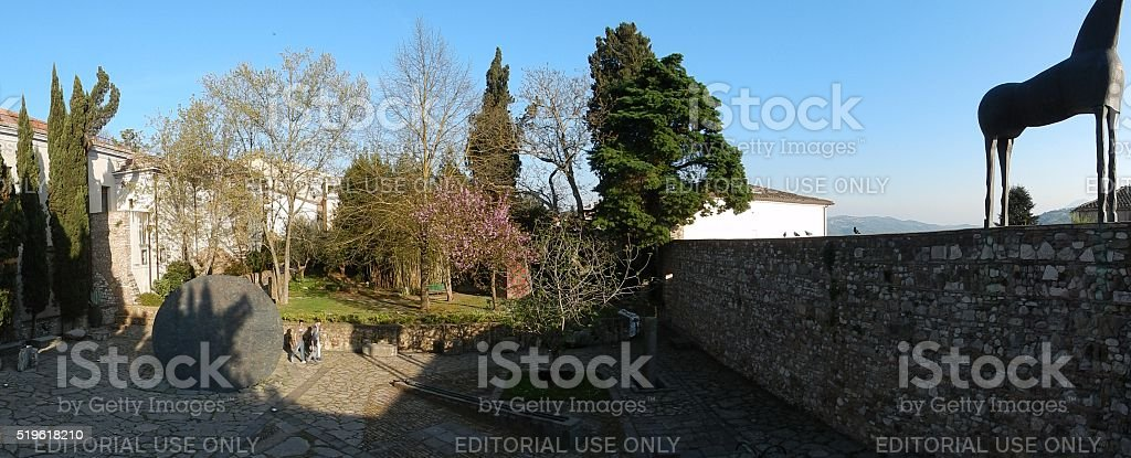 Benevento - Panoramica dell'Hortus Conclusus stock photo