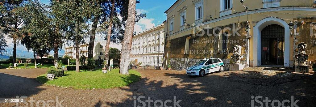 Benevento - Panoramica dei giardini della Rocca stock photo