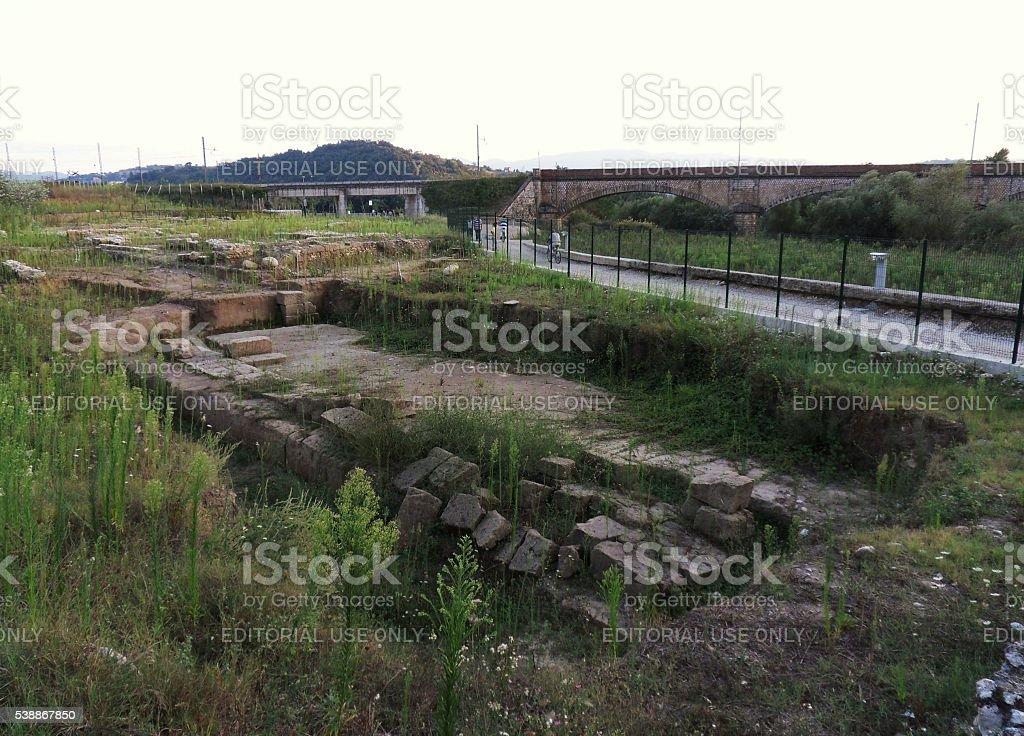 Benevento - Parco Archeologico di Cellarulo stock photo