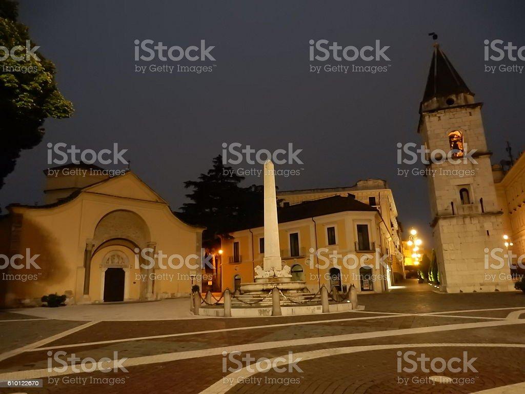 Benevento - Piazza Matteotti all'alba stock photo