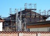 Benevento - Ponteggio fatiscente