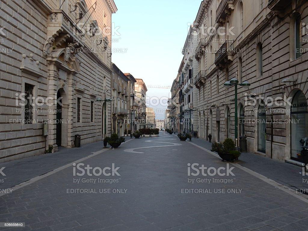 Benevento - Scendendo Corso Garibaldi stock photo