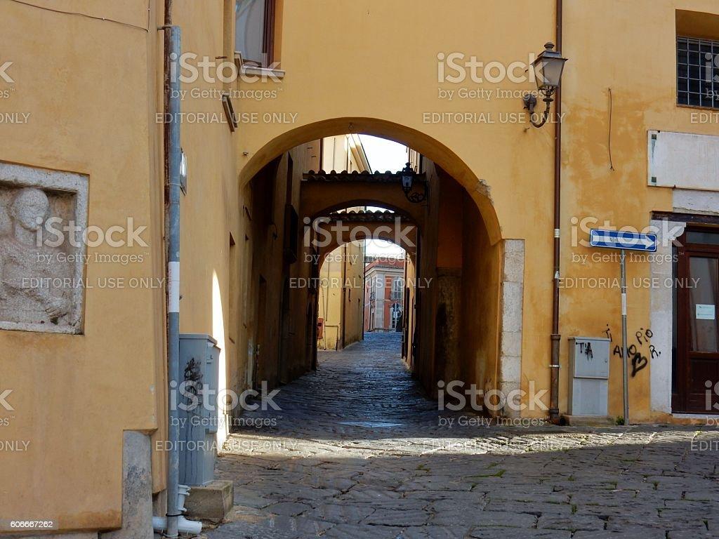 Benevento - Vicolo dell'Annunziata stock photo