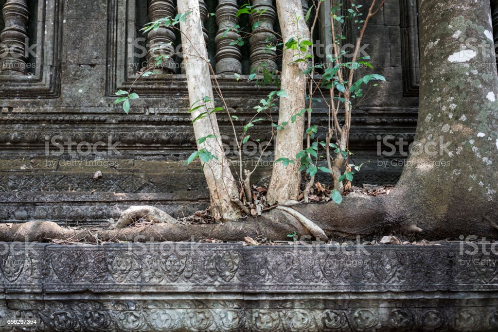 Beng Mealea Buddhist temple in Temples of Angkor stock photo