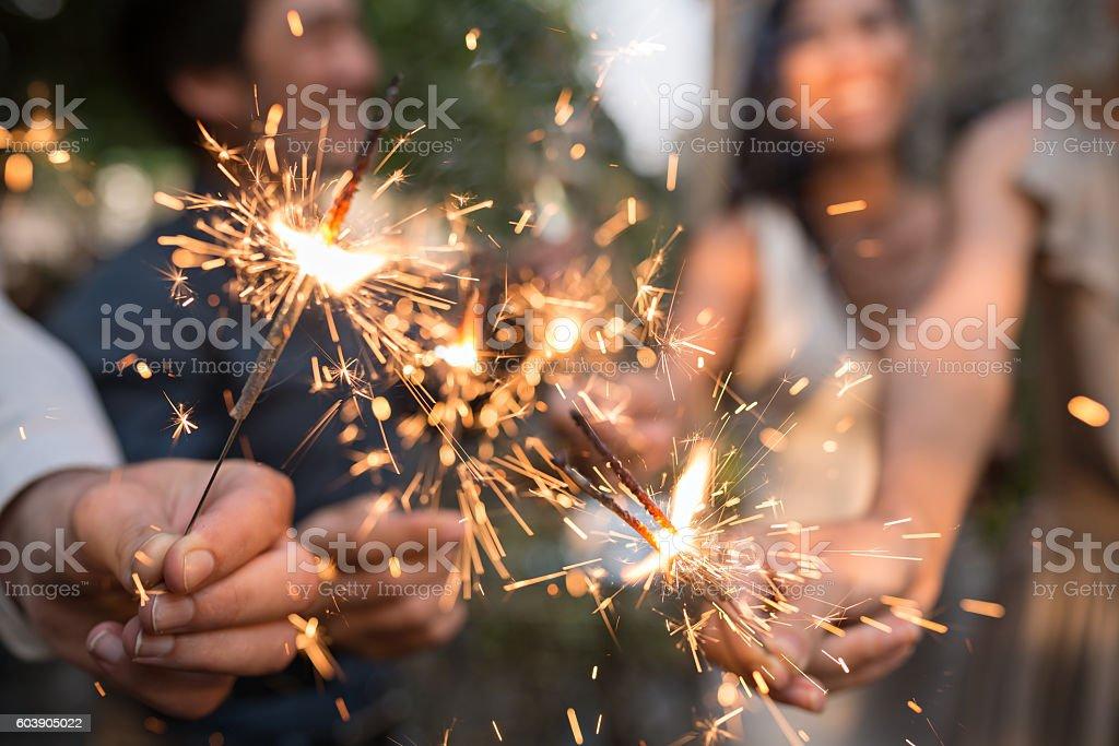 Bengal lights stock photo