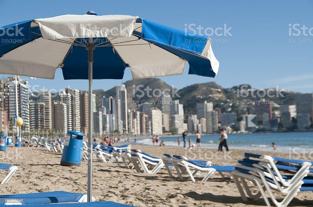 Benidorm beach in Spain stock photo stock photo