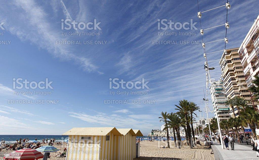 Benidorm beach stock photo