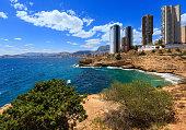 Benidorm city coast view (Spain).