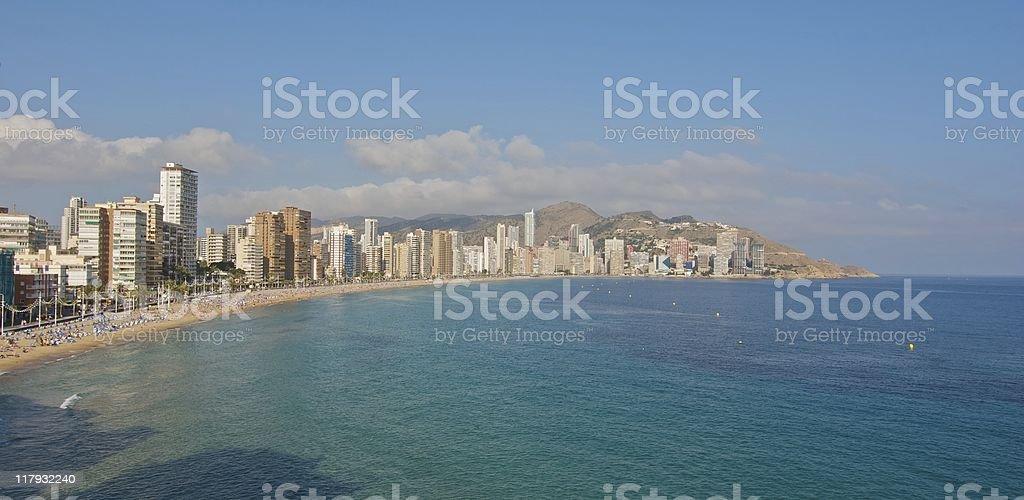 Benidorm - Levante Beach stock photo