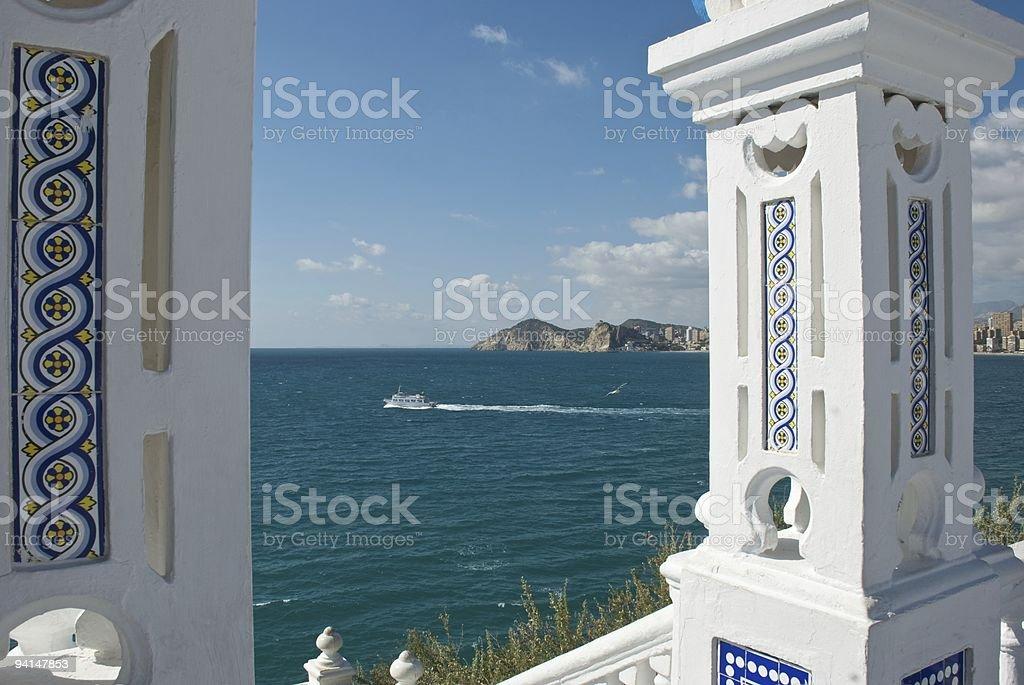 Benidorm - Mediterranean Sea stock photo