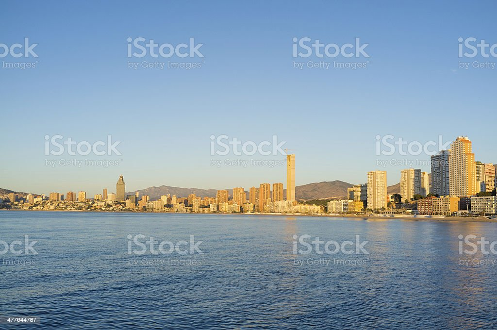 Benidorm on early morning royalty-free stock photo