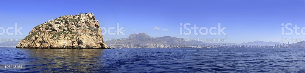 Benidorm panoramic view from island royalty-free stock photo