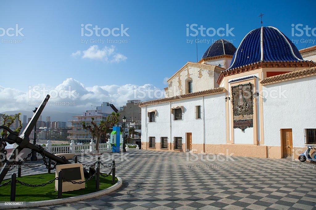 Benidorm San jaime church Alicante Spain stock photo