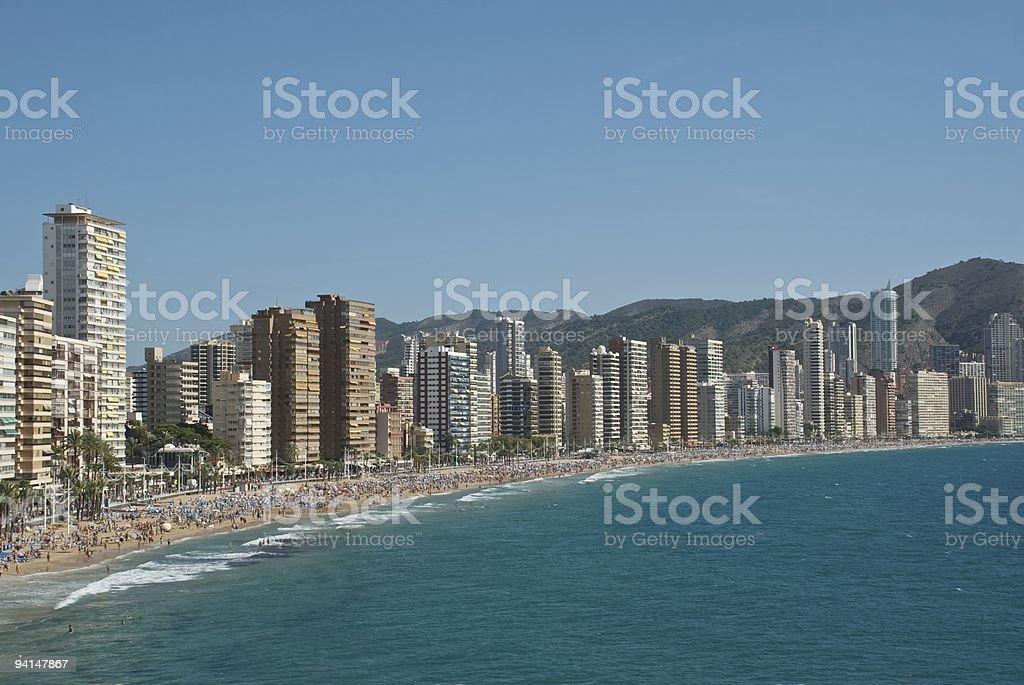 Benidorm - The beach stock photo