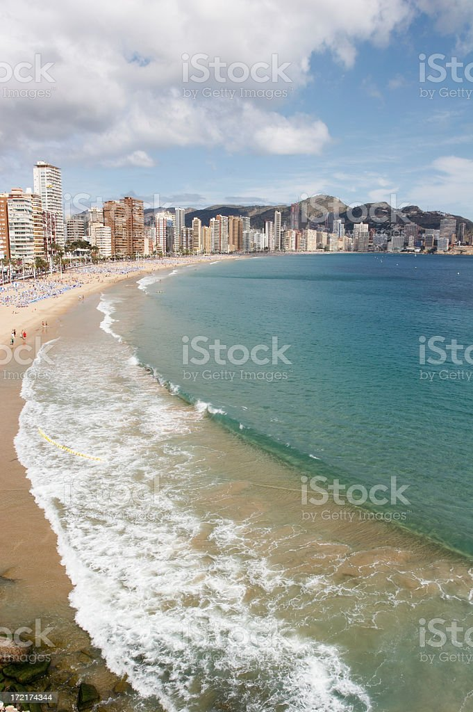 Benidorm-Spain royalty-free stock photo