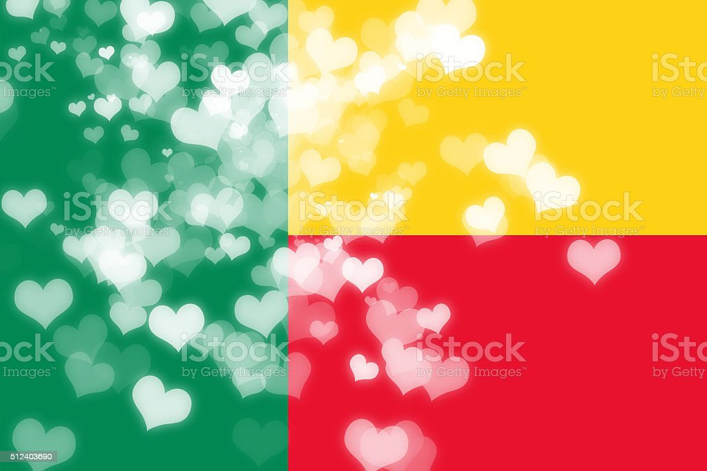 Benin flag stock photo