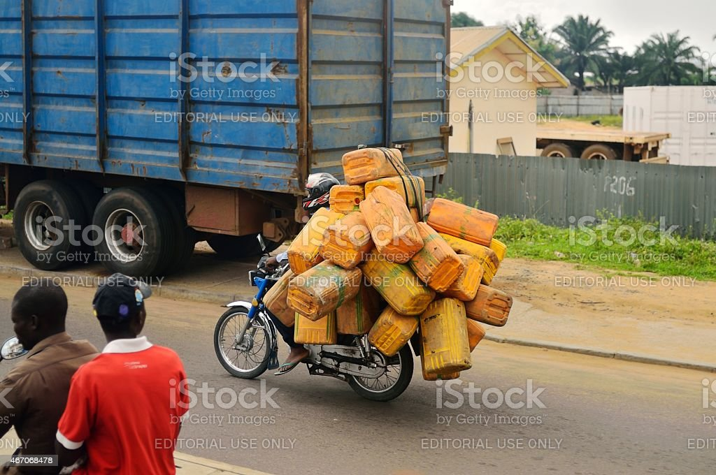 Benin Motocyclist Candid stock photo