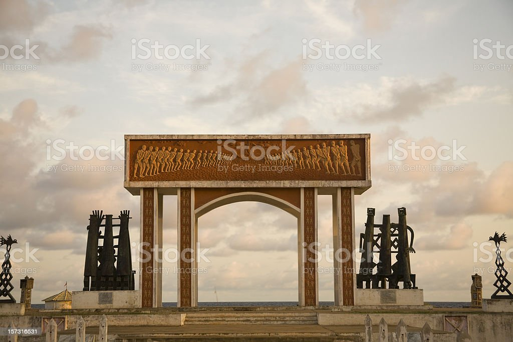 Benin: Slavery Memorial at the Portal of No Return Ouidah stock photo