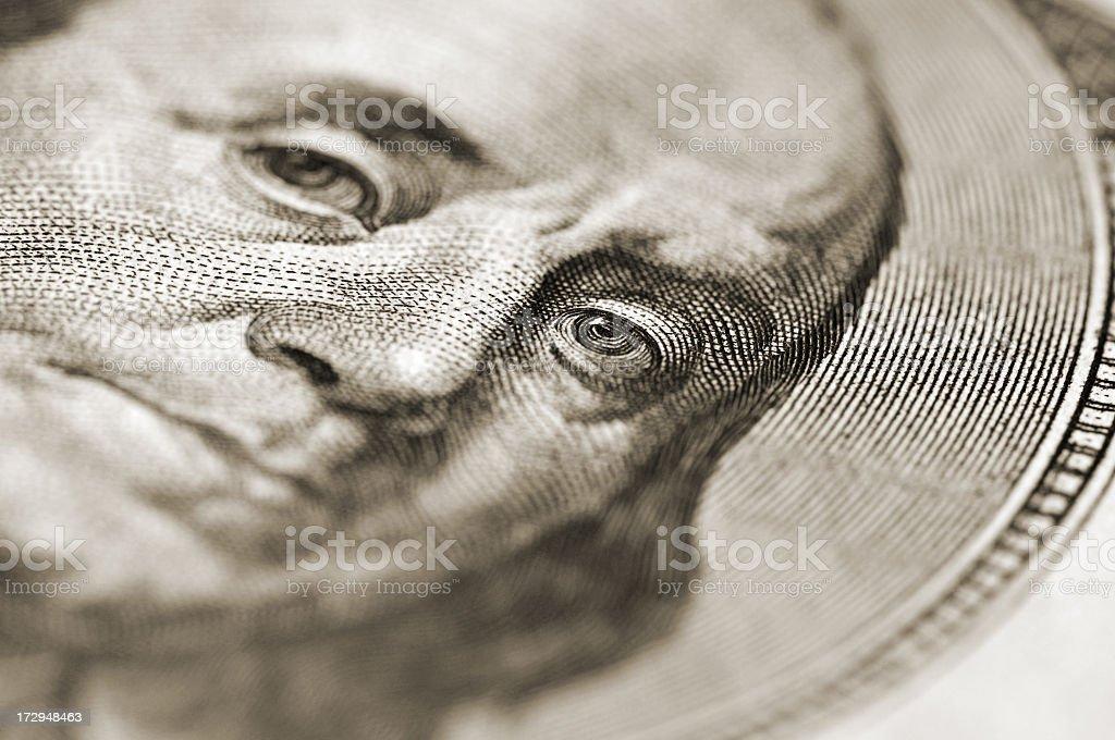 Benjamin close-up royalty-free stock photo