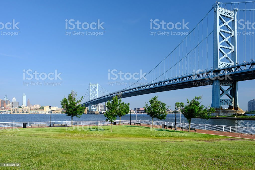 Benjamin Franklin Bridge. Philadelphia, Pennsylvania. stock photo