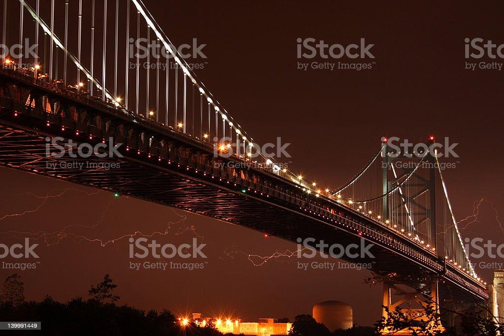 Benjamin Franklin Bridge royalty-free stock photo