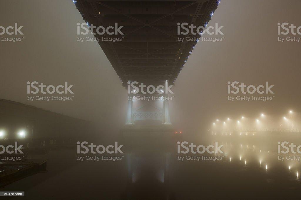Benjamin Franklin Bridge stock photo