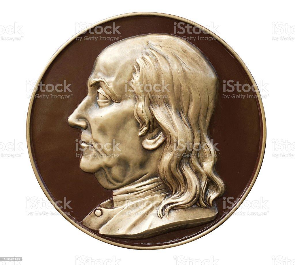 Benjamin Franklin Bust Profile royalty-free stock photo