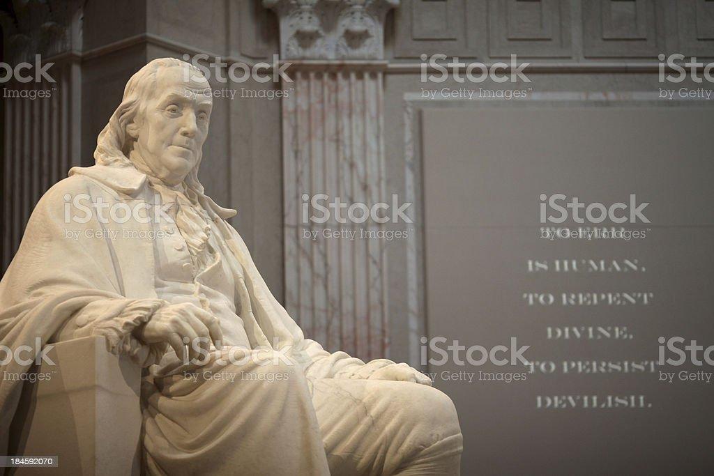 Benjamin Franklin Memorial royalty-free stock photo