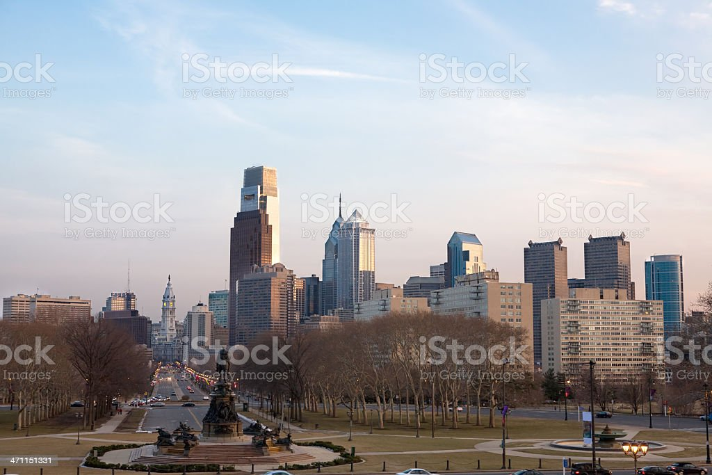 Benjamin Franklin Parkway with PSFS stock photo