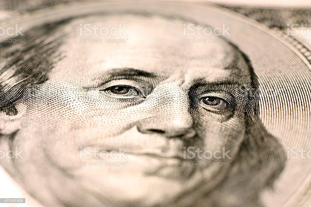 Benjamin Franklin stock photo