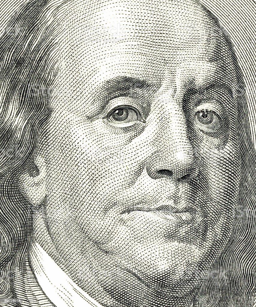 Benjamin Franklin royalty-free stock photo