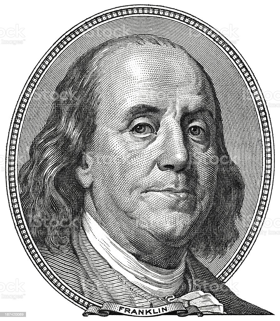 Benjamin Franklin Portrait stock photo