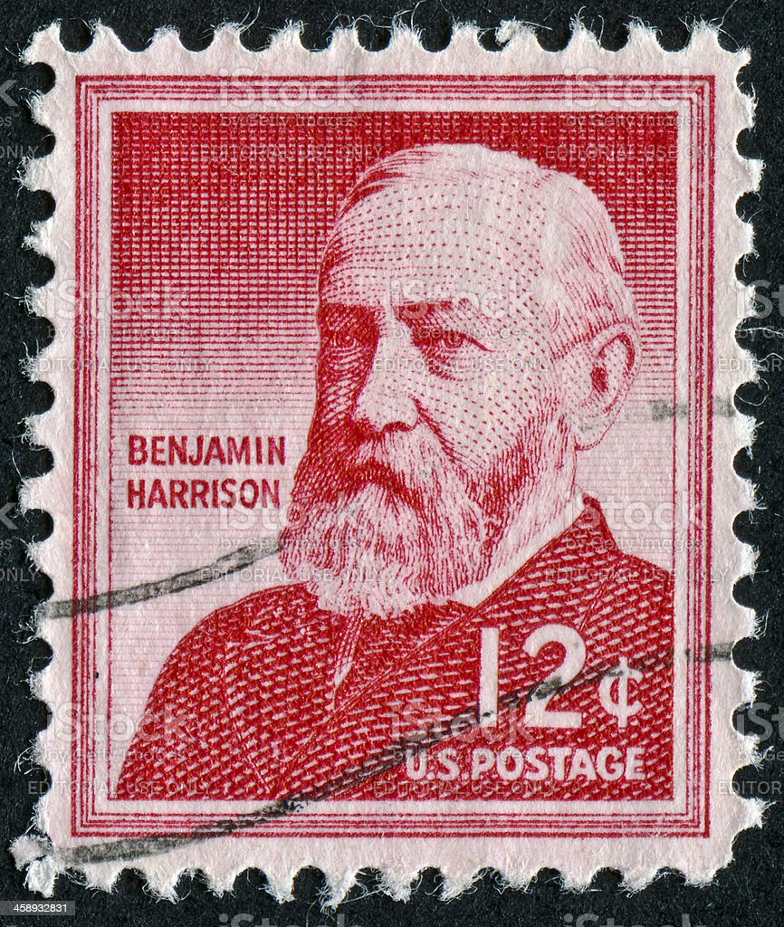 Benjamin Harrison Stamp royalty-free stock photo