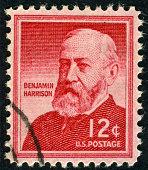 Benjamin Harrison Stamp