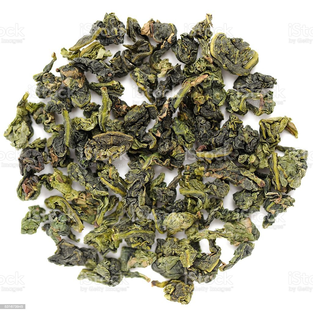 Benshan oolong chinese tea closeup isolated stock photo