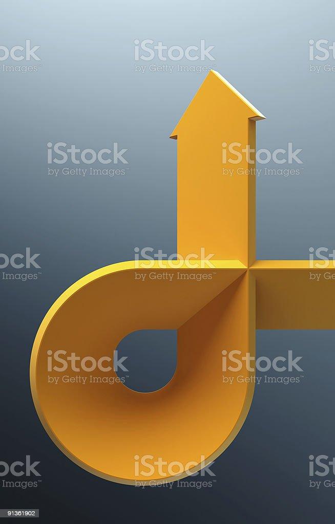 bent arrow stock photo
