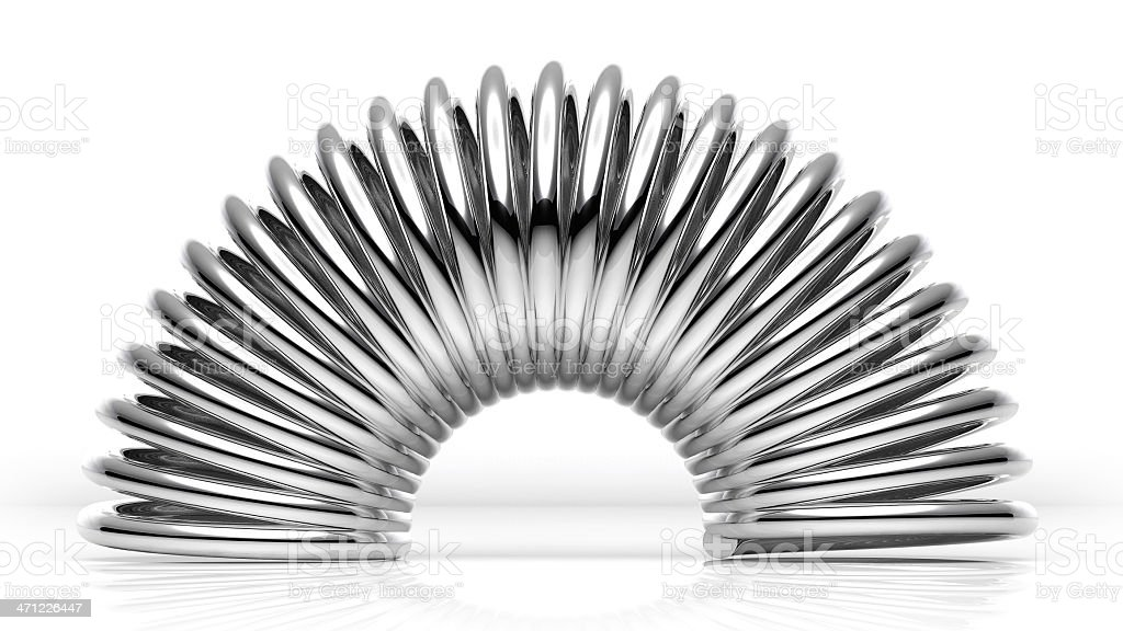 Bent Chrome Spring stock photo