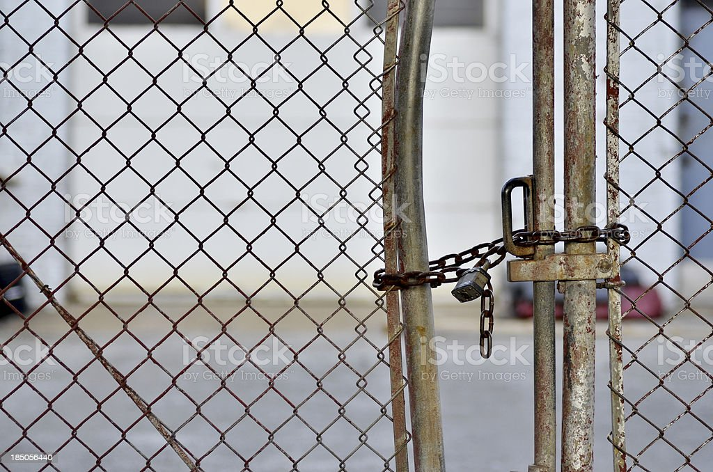 Bent Fence royalty-free stock photo