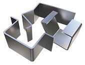 Bent metal parts
